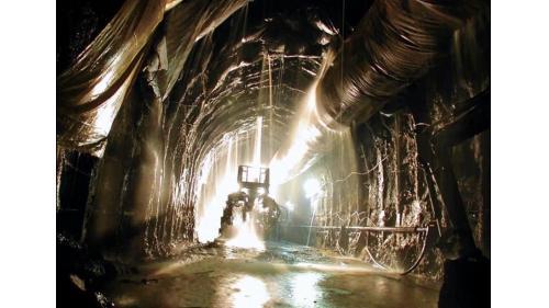 大甲溪流域新天輪10,566公尺之頭水隧道  內徑5公尺
