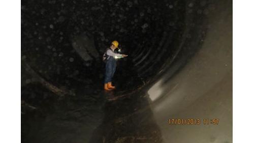 引水隧道長10.34公里,壓力式隧道為1.889公里、重力式隧道為8.45公里。