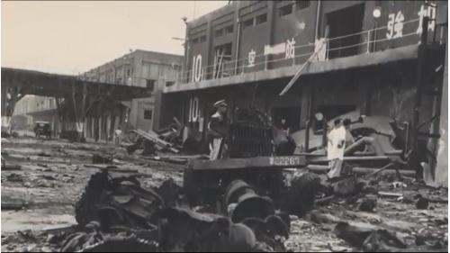 浩劫後的高雄港陸上各項設施十之八九被毀