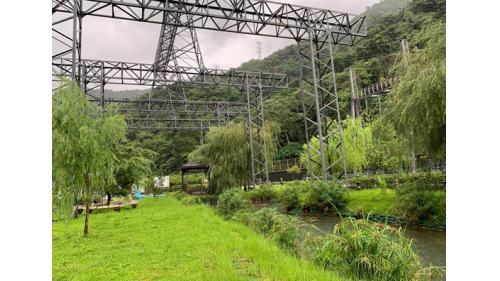 天輪舊161KV開關場拆除後改為電力花園