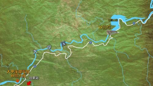 大甲溪流域谷關壩及谷關電廠相關位置圖