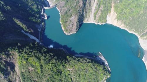 大甲溪流域谷關壩俯瞰