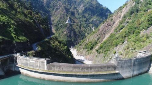 大甲溪流域谷關壩壩體