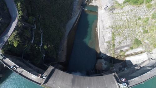 大甲溪流域谷關壩 下游排洪道消能池