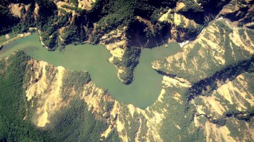 大甲溪流域921震災後的谷關壩