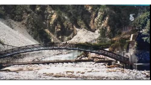 2001年7月31日發生桃芝風災,沖毀通往谷關廠房吊橋。