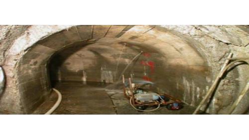 谷關電廠排水廊道滲水補強