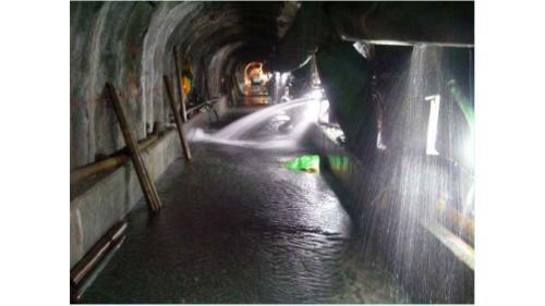大甲溪流域谷關電廠排水廊道排水現況