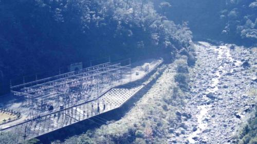 大甲溪流域敏督利風災前的青山電廠關關場