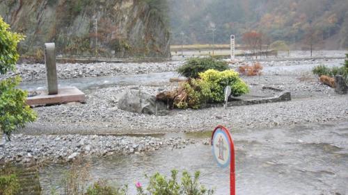 大甲溪流域敏督利風災時的青山電廠辦公區