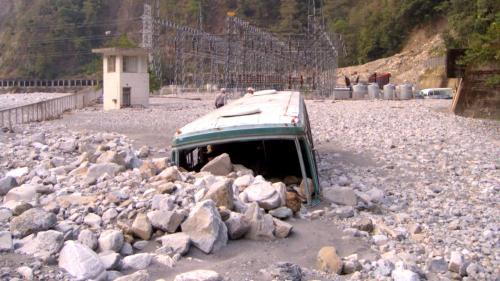 大甲溪流域敏督利風災時的青山電廠開關場