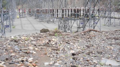 大甲溪流域敏督利風災前的青山電廠開關場
