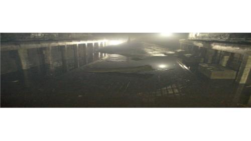 2004年七二敏督利颱風來襲,水自通風口集入廠房,機組淹水.營運停頓