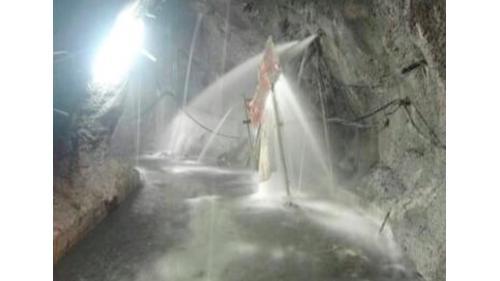 大甲溪青山電廠受2005年馬莎颱風侵襲,廠房上游排水廊道滲水