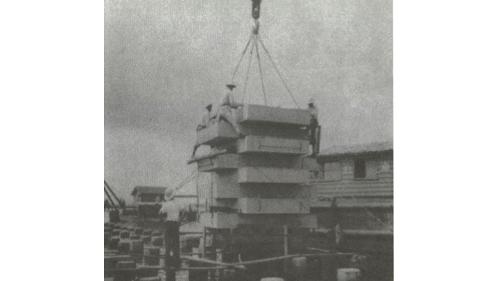 戰後高雄港修建:深水碼頭基椿載重試驗