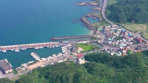 深澳電廠海水排水口俯瞰