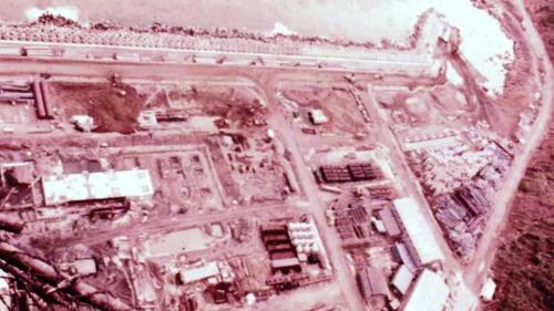 協和電廠護岸海堤內側回填土方,填築新生地建廠。