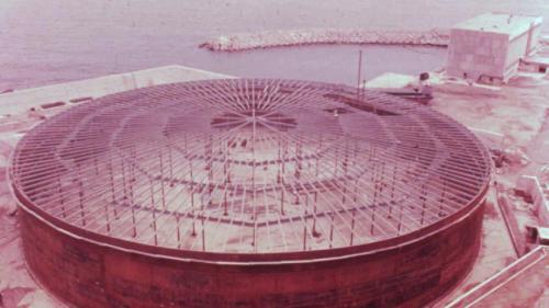 協和電廠早期5萬公秉之重油槽舊照