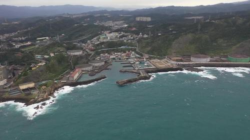 協和電廠西側抽水機房及外木山漁港俯瞰