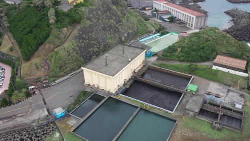 協和電廠廢水處理場及除礦水槽俯瞰