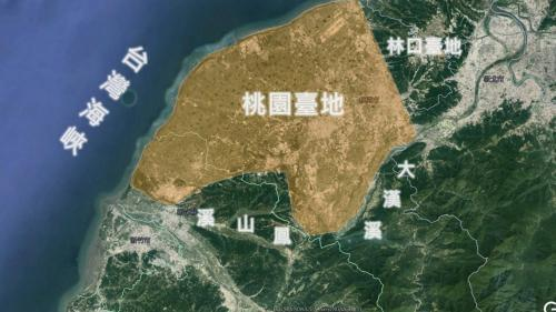桃園台地的地理位置