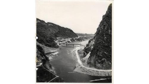 桃園大圳舊取水口往下游遠眺