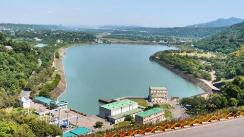 1石門水庫桃園大圳進水口對岸遠眺
