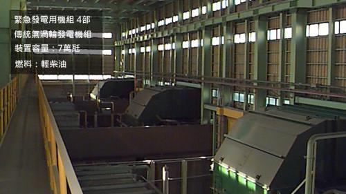 台中電廠第一期氣渦輪機房內部