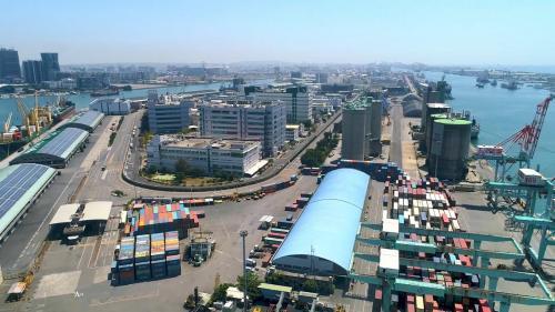 高雄港:高雄加工出口區(高雄園區)俯瞰圖