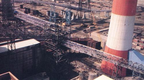 台中電廠輸煤皮帶機施工安裝舊照