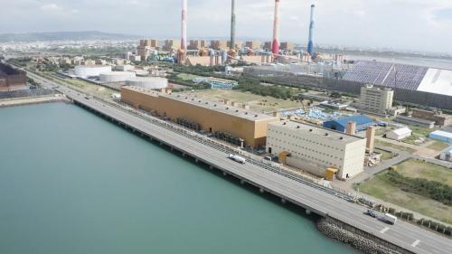 台中火力電廠抽水機房俯瞰