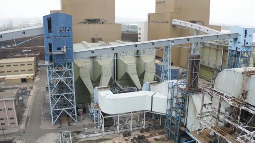 台中電廠每部機組皆有使用靜電集塵器,可攔截99.79%的粒狀汙染物。
