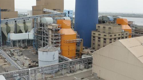 台中電廠此設備可降低氮氧化物、硫氧化物的排放量