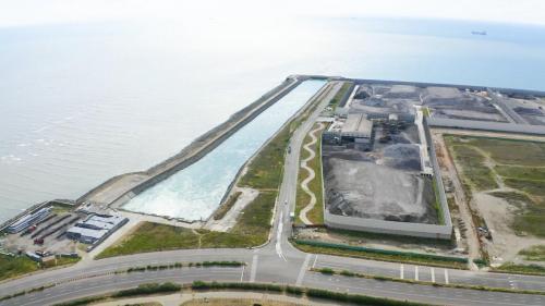 台中電廠出水口俯瞰