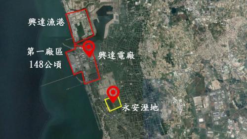 興達電廠地理位置圖