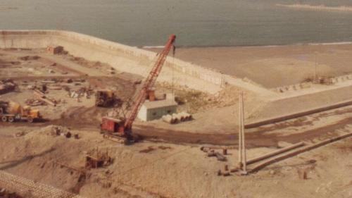 興達電廠建廠初期冷卻用水暗渠開挖