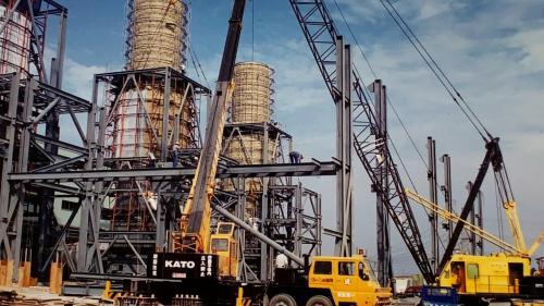 興達電廠燃氣複循環機組廠房施工