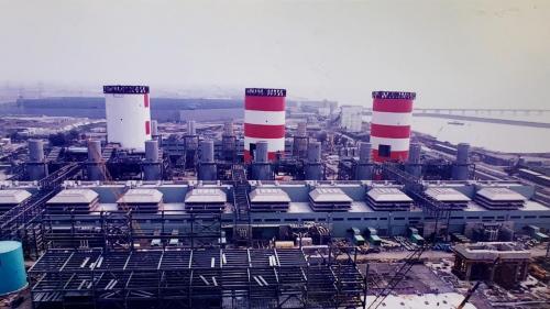 興達電廠燃氣複循環機組廠房俯瞰