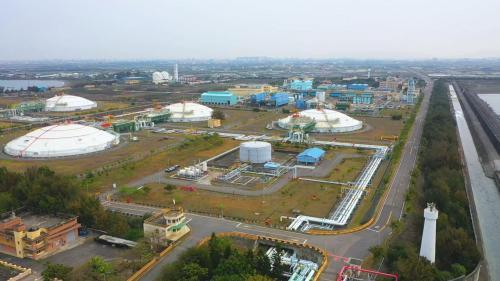 興達電場天然氣來源永安液化天然氣接收站俯瞰