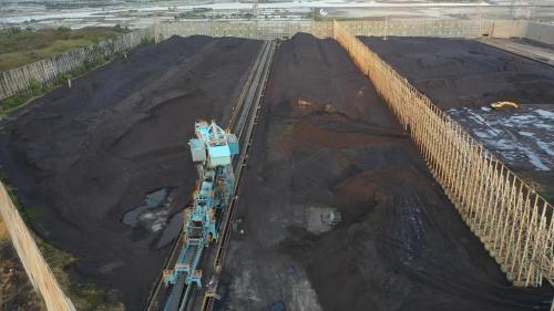 由於興達發電廠初期土地面積有限,露天煤場面積較小,機組使用的煤炭進口後儲存於大林發電廠,部分則透過轉運碼頭運送至興達電廠。