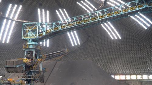 興達電廠室內煤倉俯瞰
