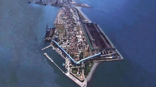 興達電廠早期燃煤來源大林電廠露天煤場及高雄港111碼頭位置