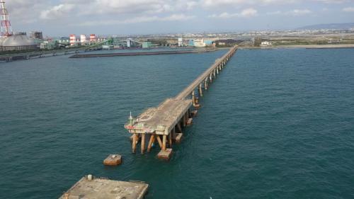 興達電廠舊卸煤碼頭(駁船碼頭)俯瞰