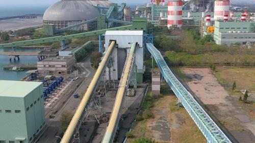 興達電廠卸煤系統之密閉式輸送皮帶
