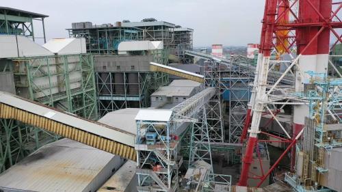 興達電廠卸煤系統之輸送燃煤到燃煤機組的密閉式皮帶