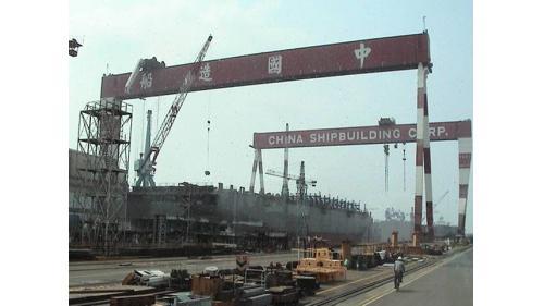高雄港:中船公司為十大建設之一,1974年開工,由榮工處與日本鹿島承攬承辦建廠工作。1976年高雄總廠完成;國內唯一的大型造船廠。