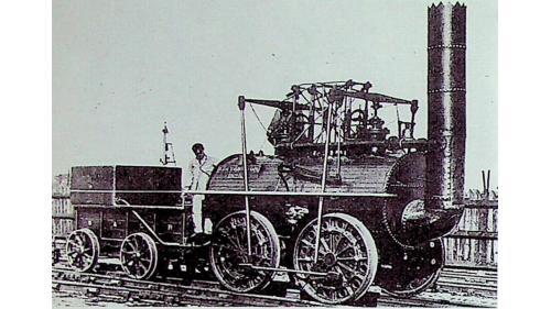 於1825年喬治·史蒂文生製造世界第一輛火車 ,最初稱作Active,後來改名為機車一號,在斯托克頓和達靈頓鐵路上運行。時速24公里(15英里)。