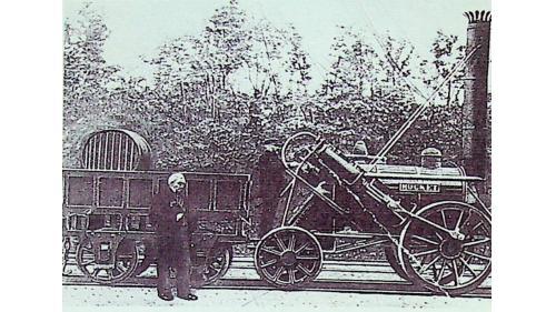 1829年喬治·史蒂文生製造世界的第二輛蒸汽機車。