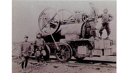 製造於1881年,這台機車在唐胥鐵路修建期間,由開平礦務局胥各莊修車廠員工利用鍋駝機等施工機具拼裝而成。