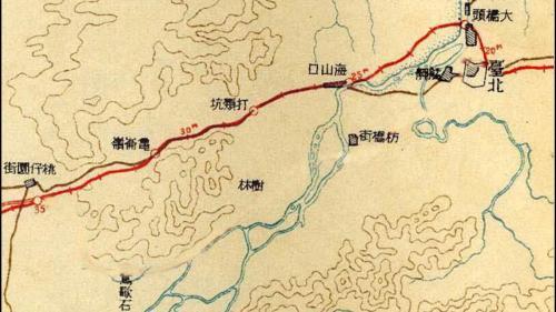 日治時代臺北至桃仔間鐵道改線示意圖